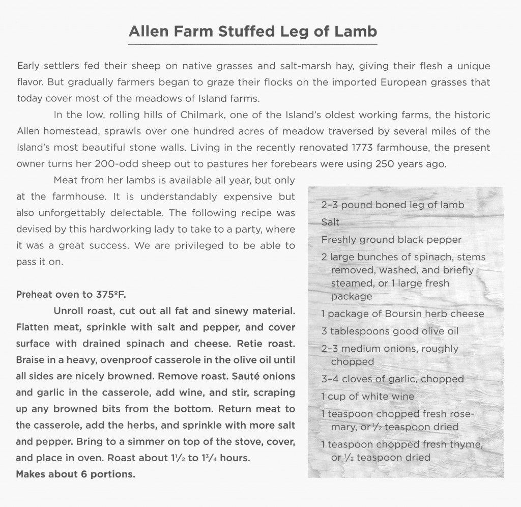 Recipe - Allen Farm Stuffed Leg of Lamb - King & Wexler
